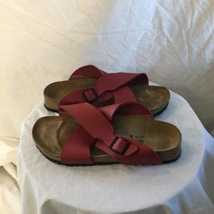 Birkenstock Birki's Leather Criss Cross Sandals